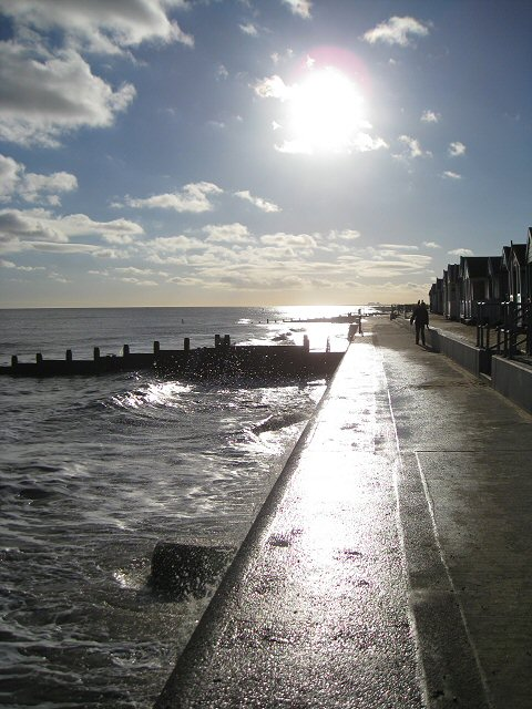 The promenade in winter