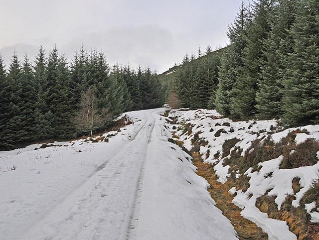 Forestry track in Glen Boltachan