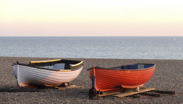 Boats on Brighton Beach, Sussex
