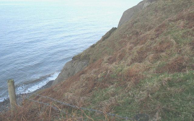 View north towards Trwyn y Tal