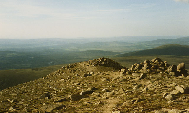 The summit ridge of Bynack More
