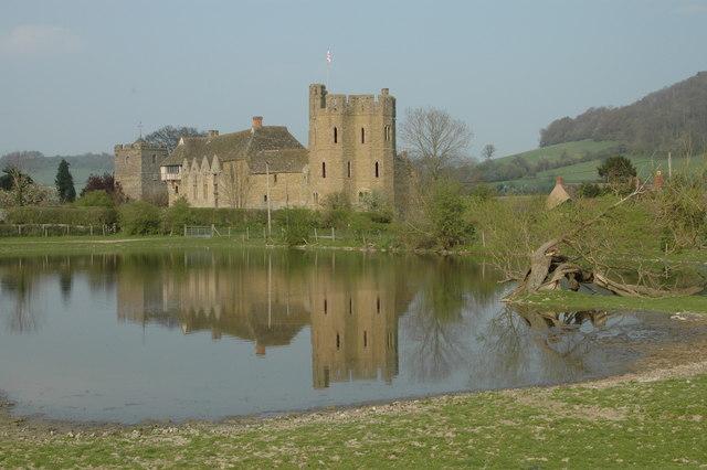 Stokesay Castle, Church & reflection