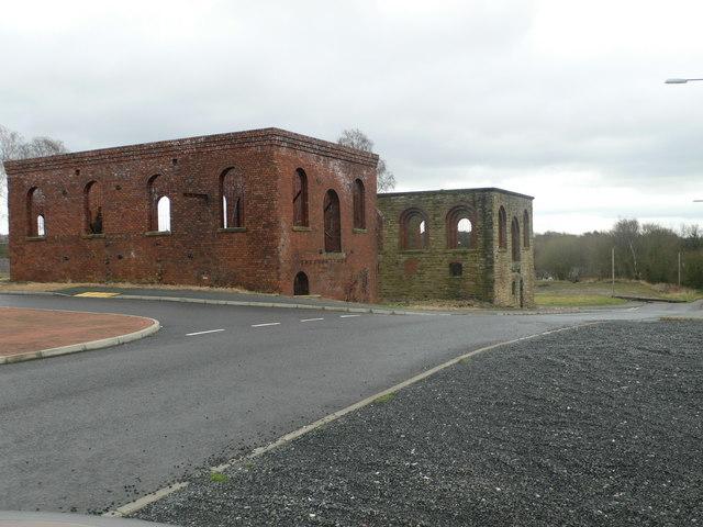 Old industrial buildings, Plas Power