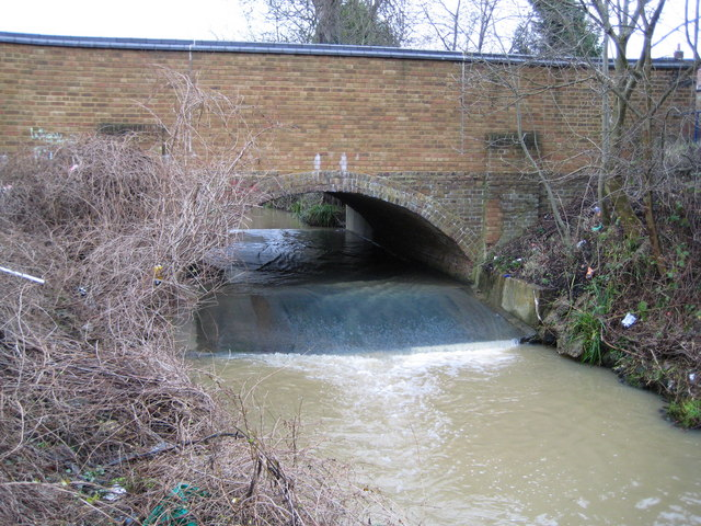 Salmon's Brook: A110 road bridge