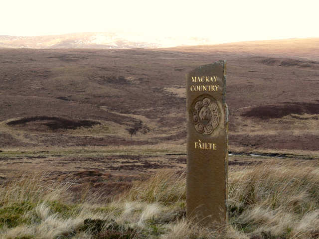 Welcome marker, near Crask