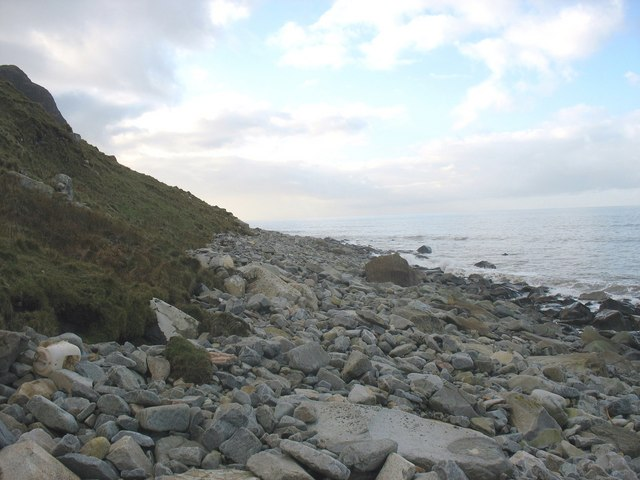 The foreshore below Mynydd y Gwaith