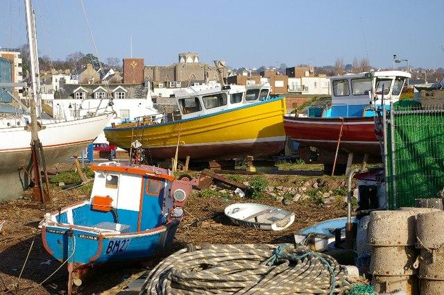 Boatyard Teignmouth.