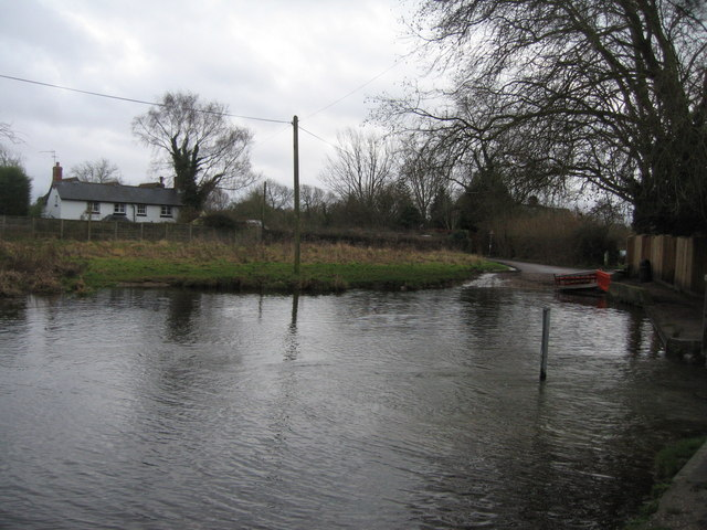 Warnborough Green ford - River Whitewater