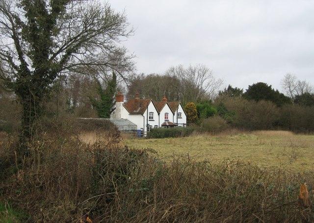 Lone property in Warnborough Green