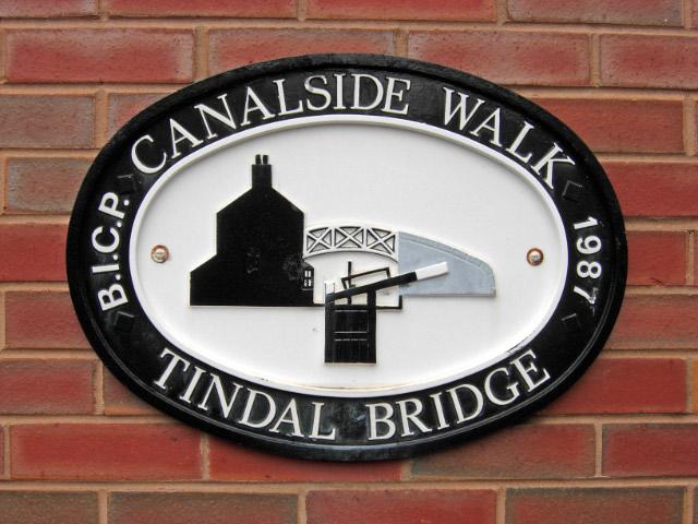 Canalside Plaque, Birmingham & Fazeley Canal