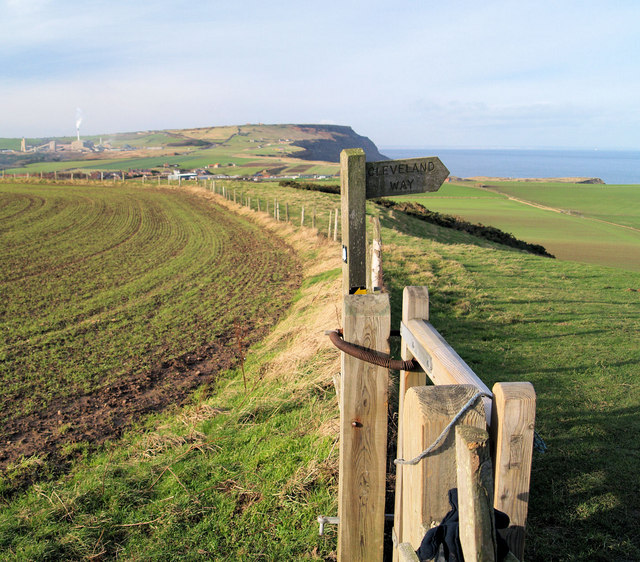 The Cleveland way footpath