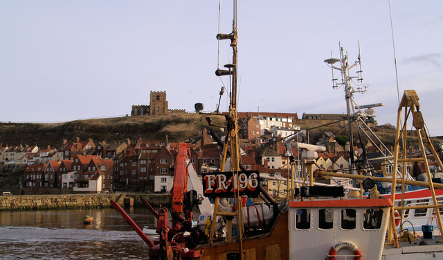 Whitby Abbey from across the harbour (River Esk)