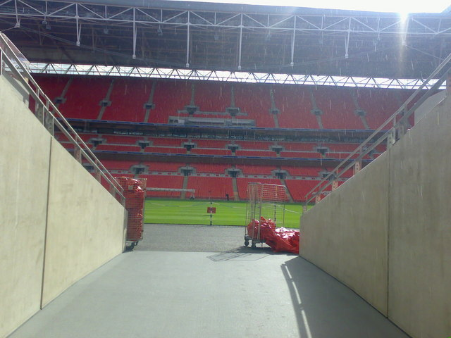 Wembley Stadium - players tunnel