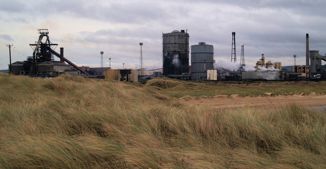 Corus steelworks from South Gare