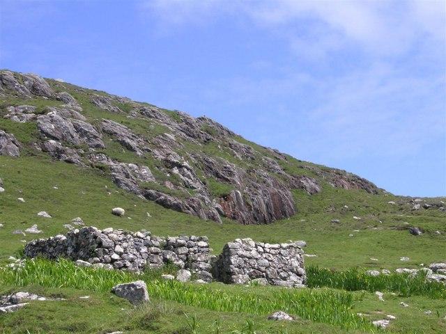 Ruined croft near Borve
