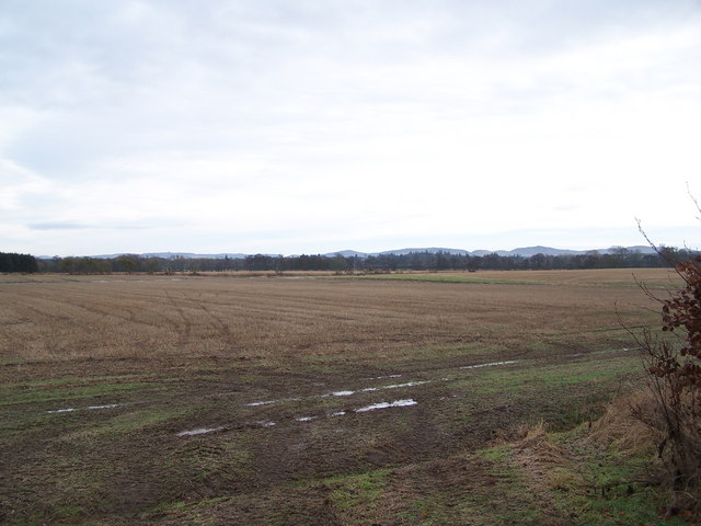 Open farmland east of Nether Aird