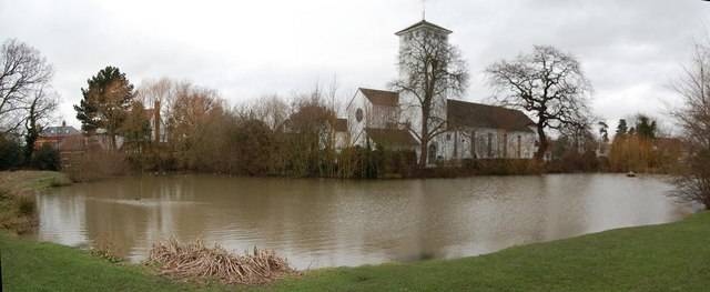 Marney's Pond and All Saints' Church, Weston Green