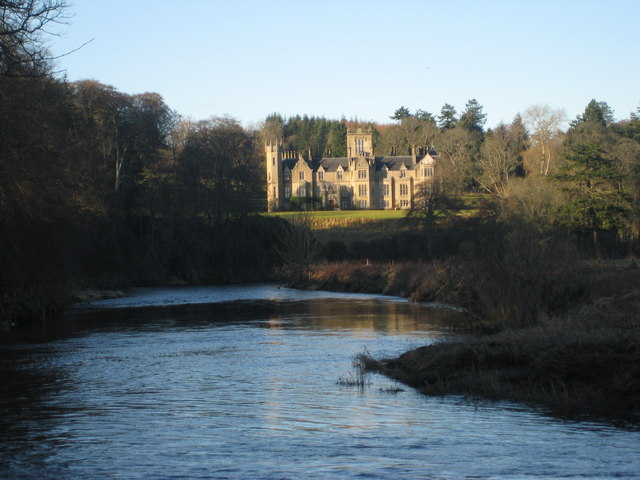 Forglen House from the banks of the River Deveron