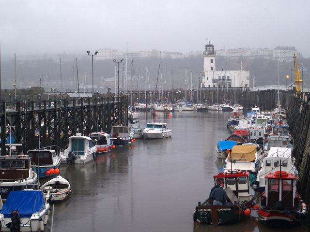 Scarborough marina area of harbour