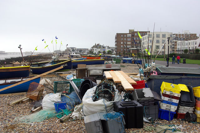 Worthing - fishermans' clutter