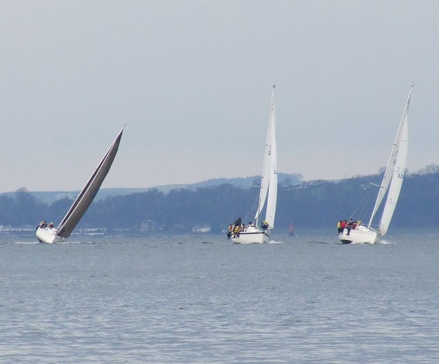 Yachts off Inverkip