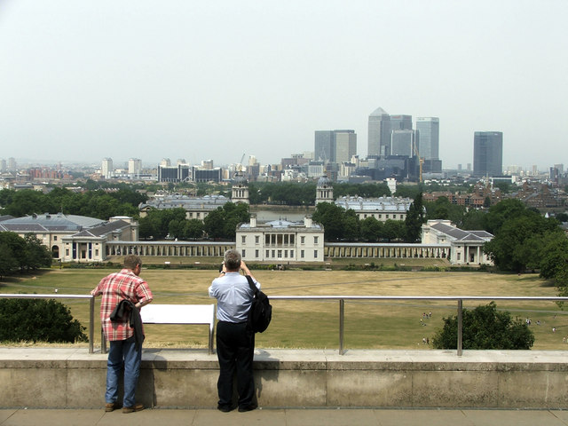 Viewpoint, Greenwich, looking towards Royal Naval College
