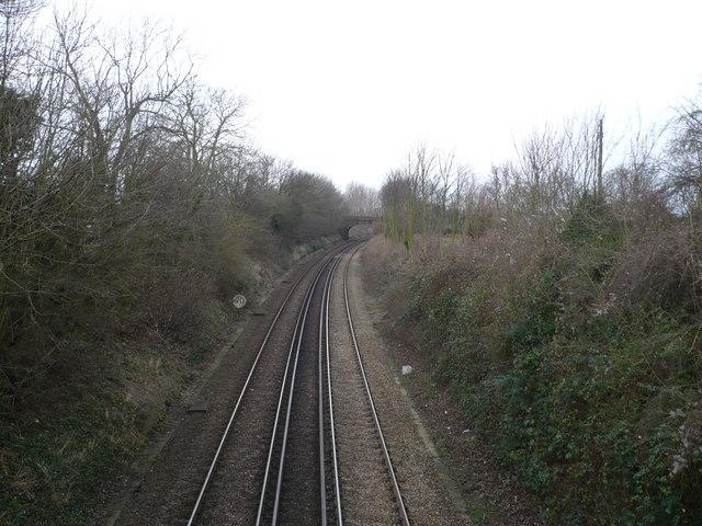 Railway line leading to Faversham