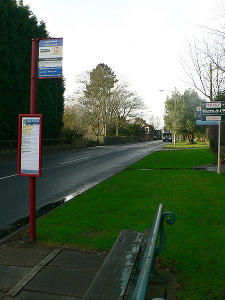 Bus Stop and Bench, Layton Road, Horsforth