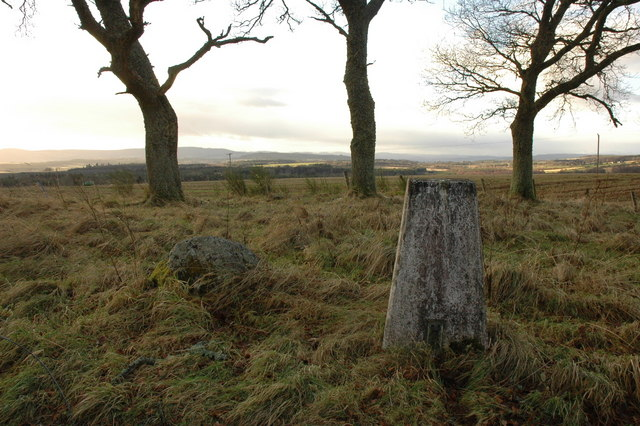 Trig point near Munlochy