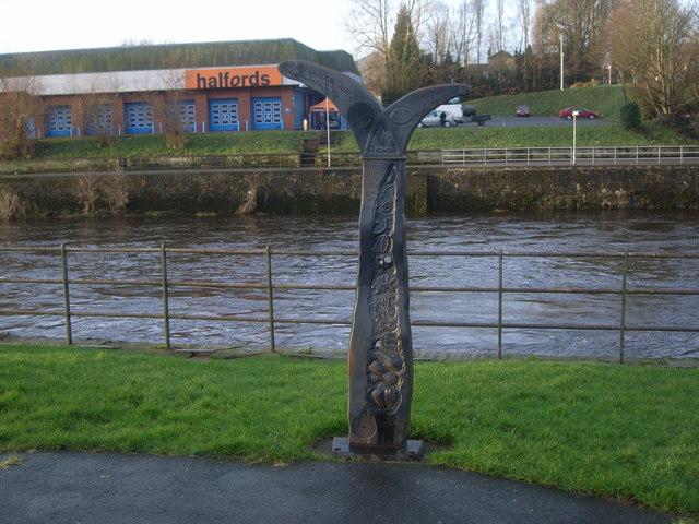 Sculpture & Milepost
