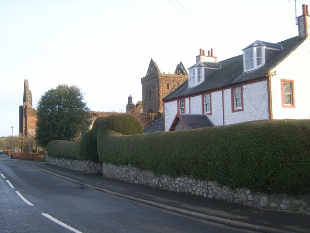 New Abbey - Main Street (Sweatheart Abbey in background)