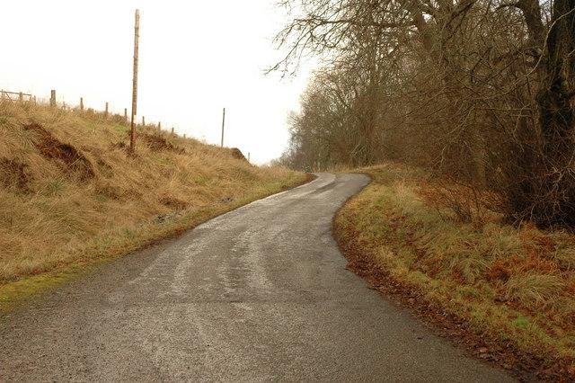 Minor road near Killen