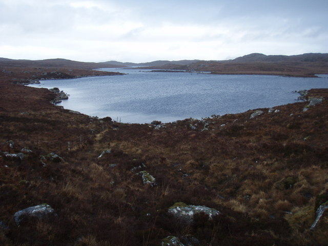 Looking down the length of Loch Fada