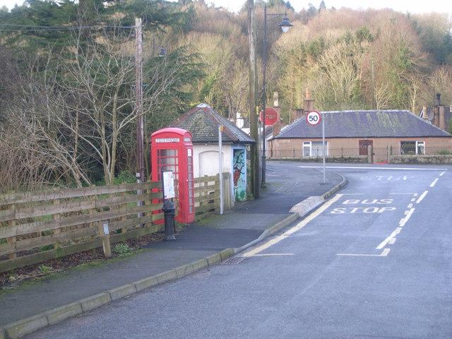 Kirkbean - Telephone Box & Bus stop