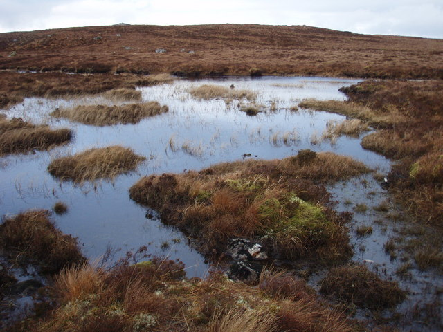 Confluence of Loch Fada feeder rivers