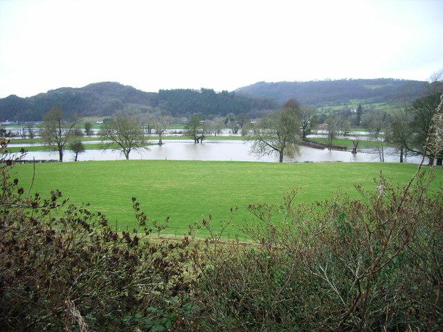 A wet Dyffryn Meifod