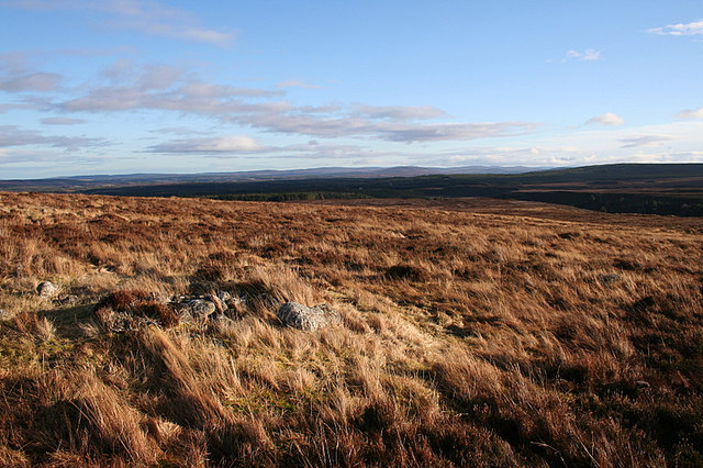 Settlement remains on Carn Maol's southern slopes