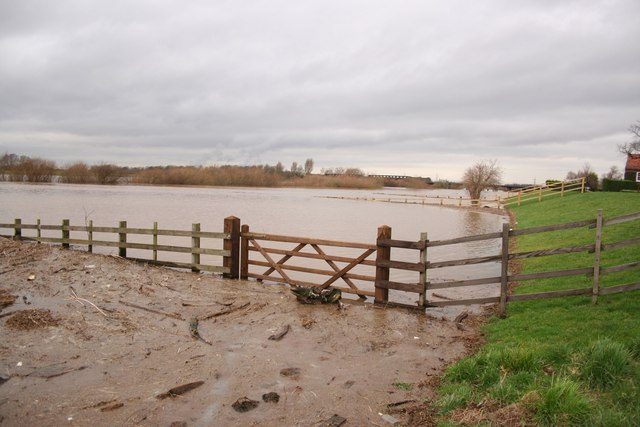 Floodwater at Torksey