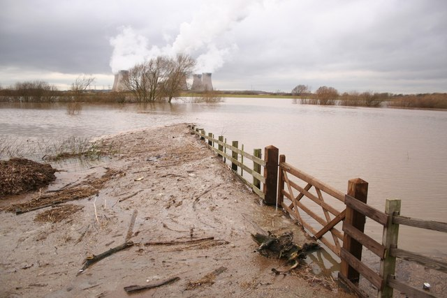 Trent floodwaters