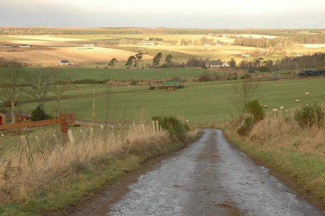 Minor road to Ordhill