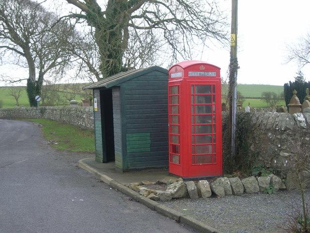 Telephone Box & bus stop