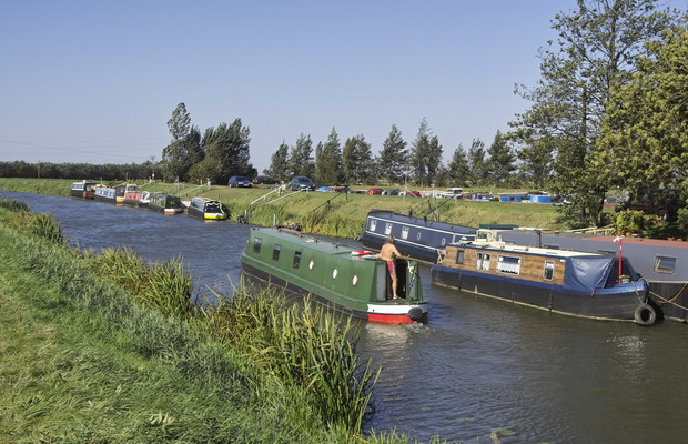 Narrowboats on the River Nene (old Course)