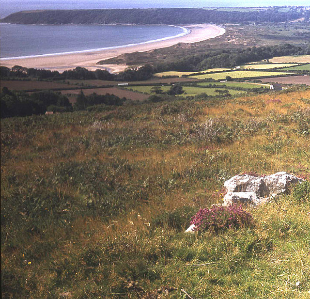 View to Oxwich Bay from Cefn Bryn