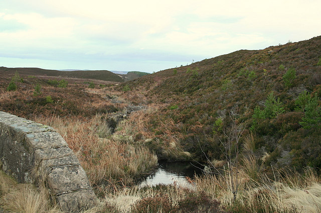 Looking nor'eastwards from the bridge over the Allt na Leacainn