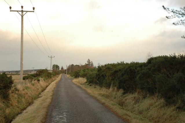 Unclassified road near Muirton