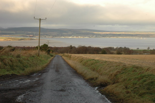 Unclassified road and Cromarty Firth