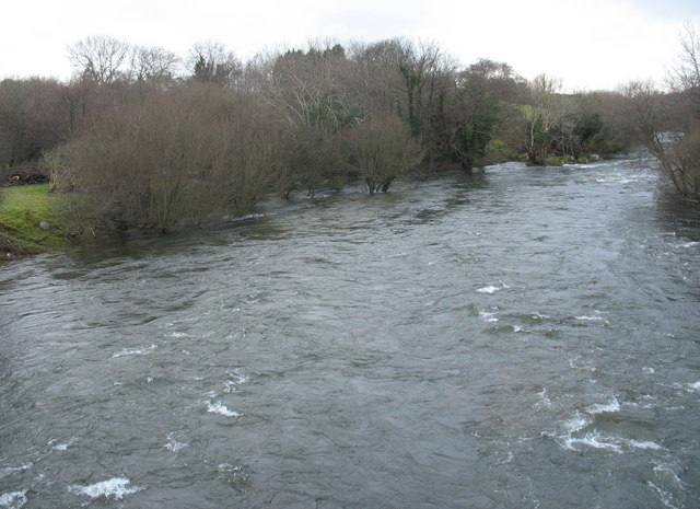 Afon Seiont in spate