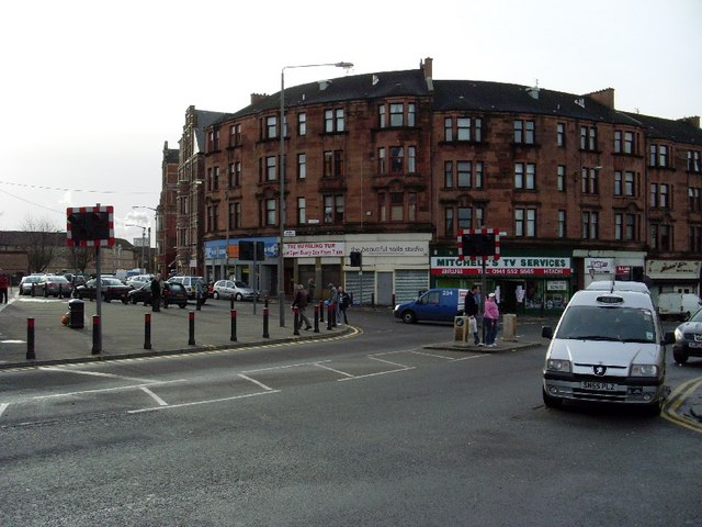 Tenements at the corner of Bain Street and Gallowgate