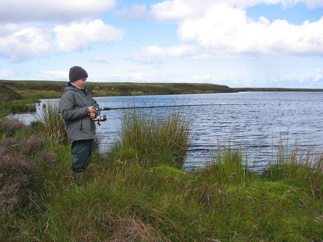 Trout fishing on the Lochan Meadhonach