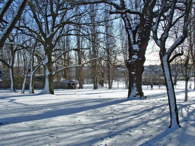 Oakwood Park in Winter, London N14